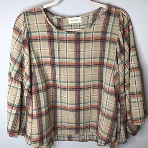 The Nines • Sz S Multi Plaid Shirt